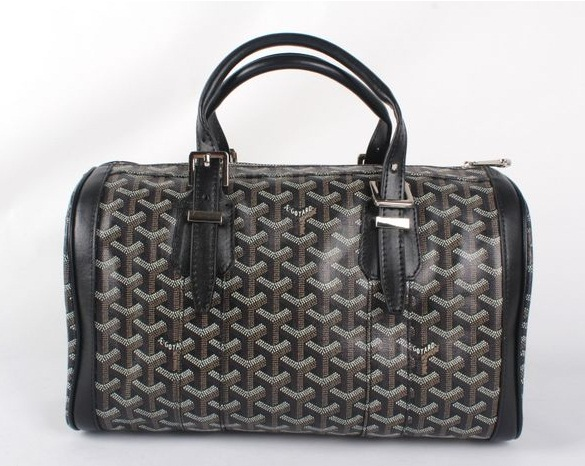 Goyard Speedy Bag with Shoulder Strap 8970 Black