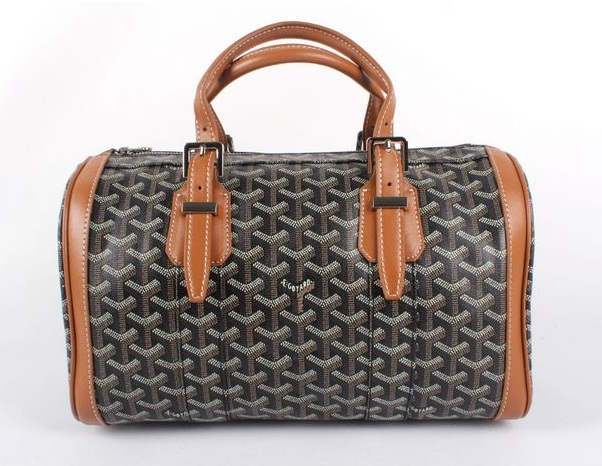 Goyard Speedy Bag with Shoulder Strap 8970 Black/Earth Yellow