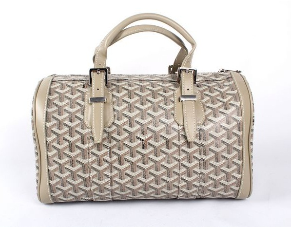 Goyard Speedy Bag with Shoulder Strap 8970 Grey