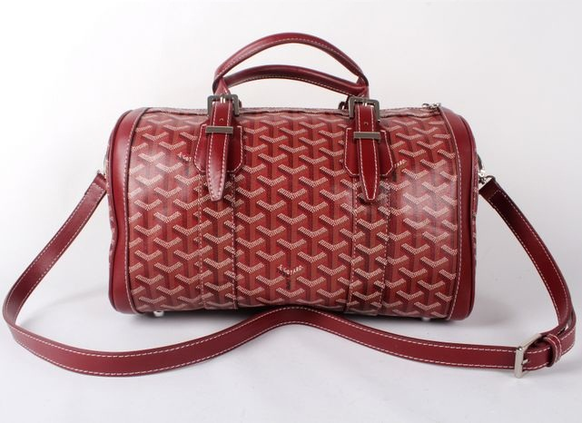 Goyard Speedy Bag with Shoulder Strap 8970 Wine Red
