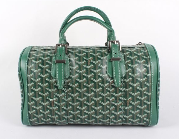 Goyard Speedy Bag with Shoulder Strap 8970 Green