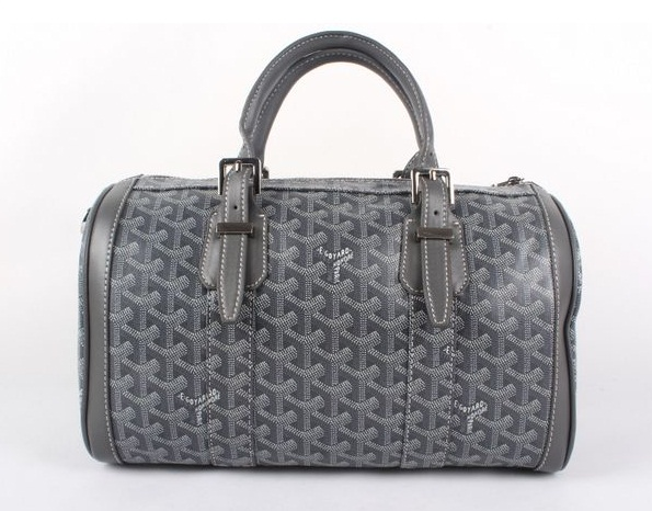 Goyard Speedy Bag with Shoulder Strap 8970 Dark Grey
