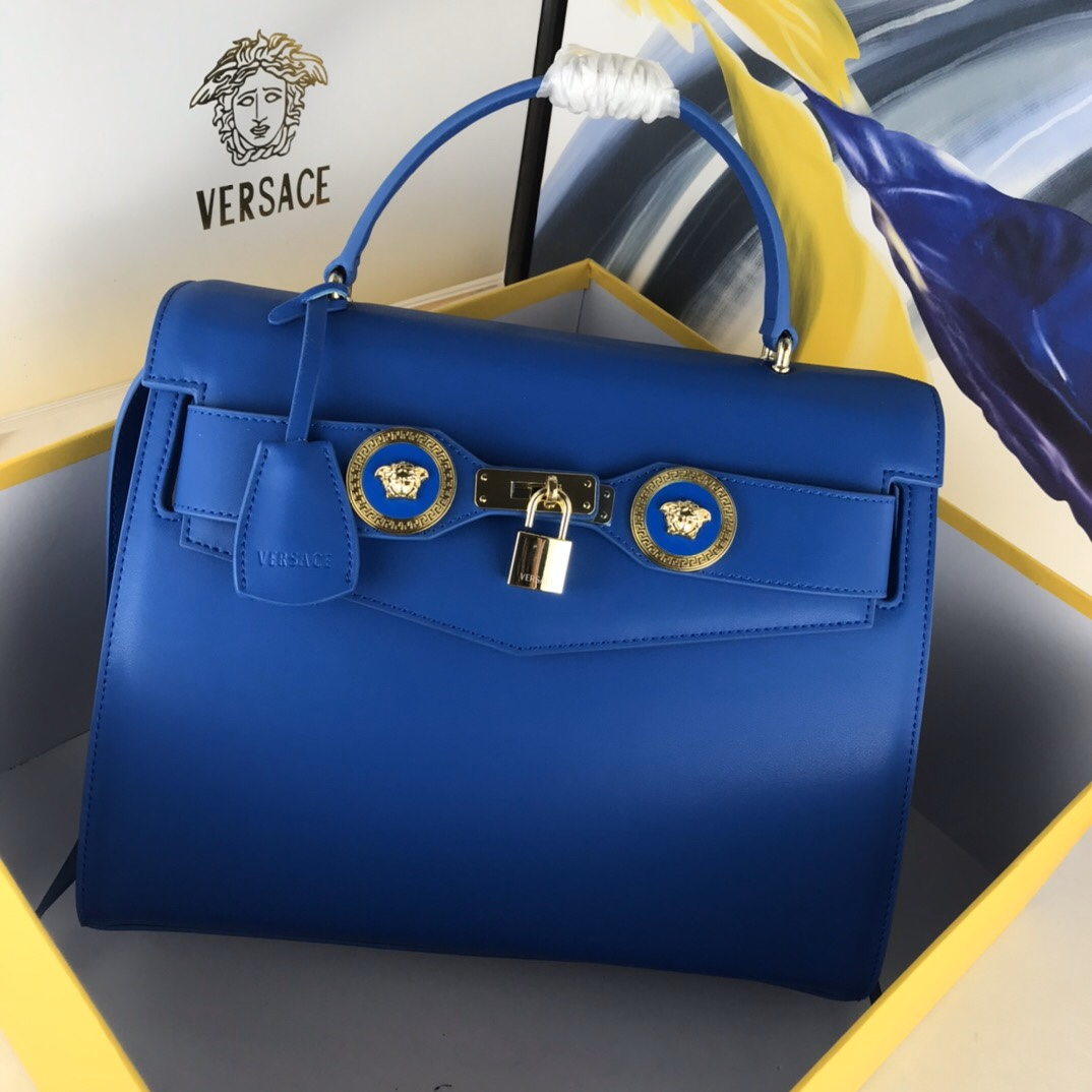 Versace Icon Large Top Handle DBFG311 Blue