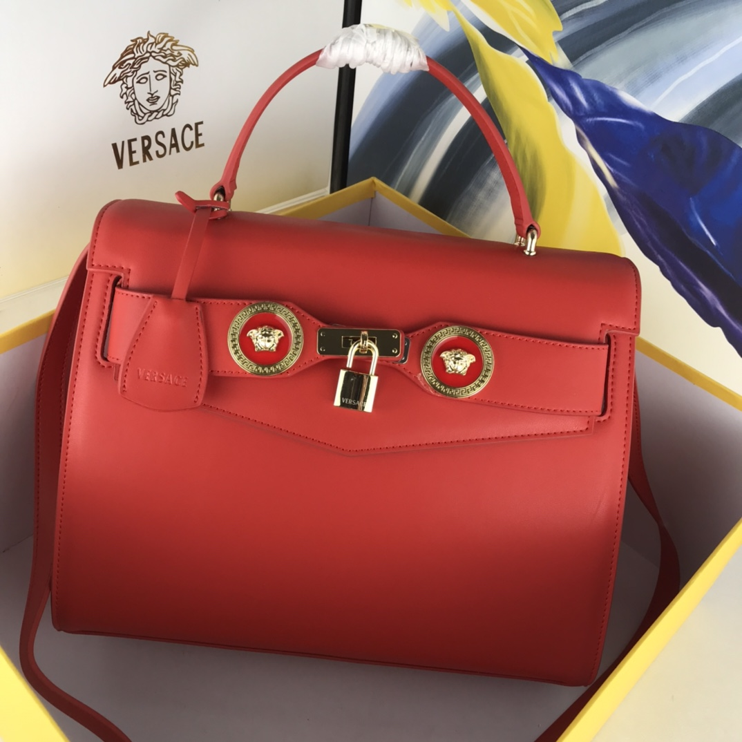 Versace Icon Large Top Handle DBFG311 Red