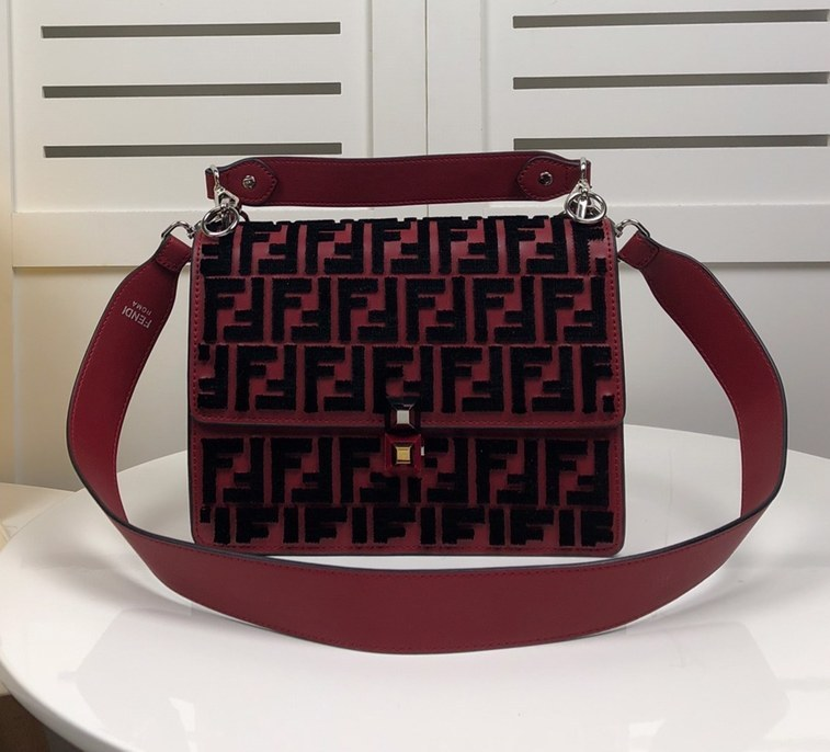 Fendi Kan I Shoulder Bag F22155 Red
