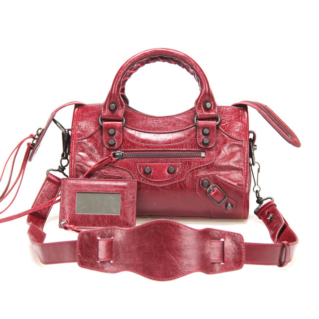 Balenciaga Covered Giant City Bag 300295 Wine Red