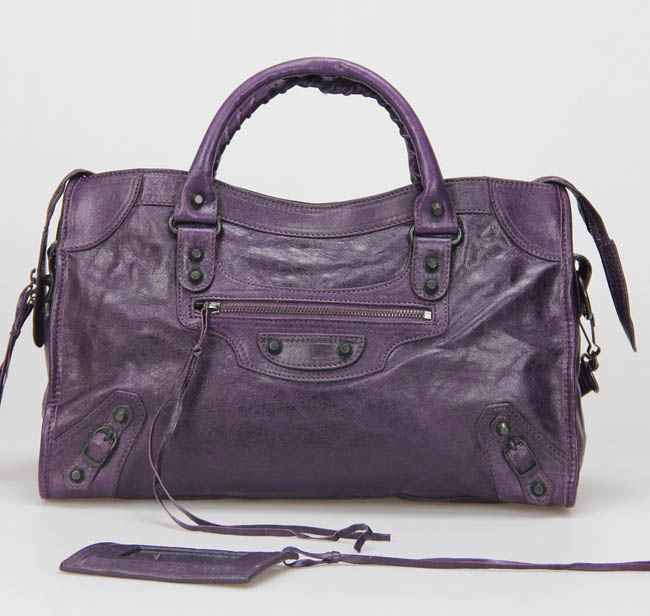 Balenciaga Giant City Little Hardware Bag 332 Darkviolet