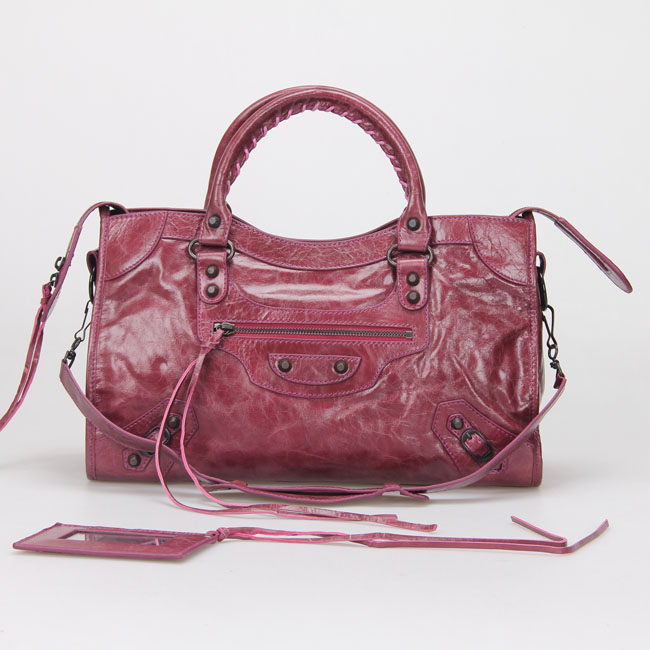 Balenciaga Giant City Little Hardware Bag 332 Fuchsia