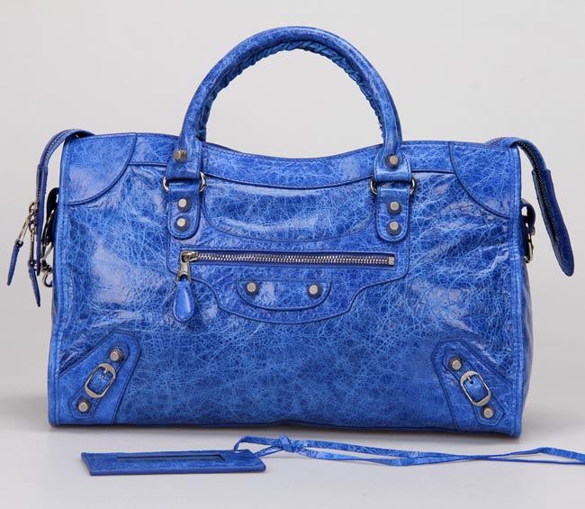 Balenciaga Giant City Little Hardware Bag 332 Bright Blue