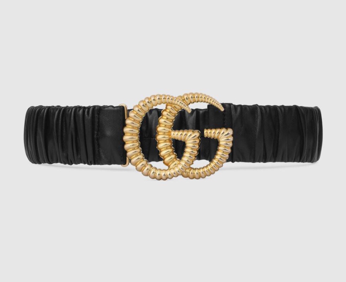 Gucci Belt with Torchon Double G Buckle 582093 Black