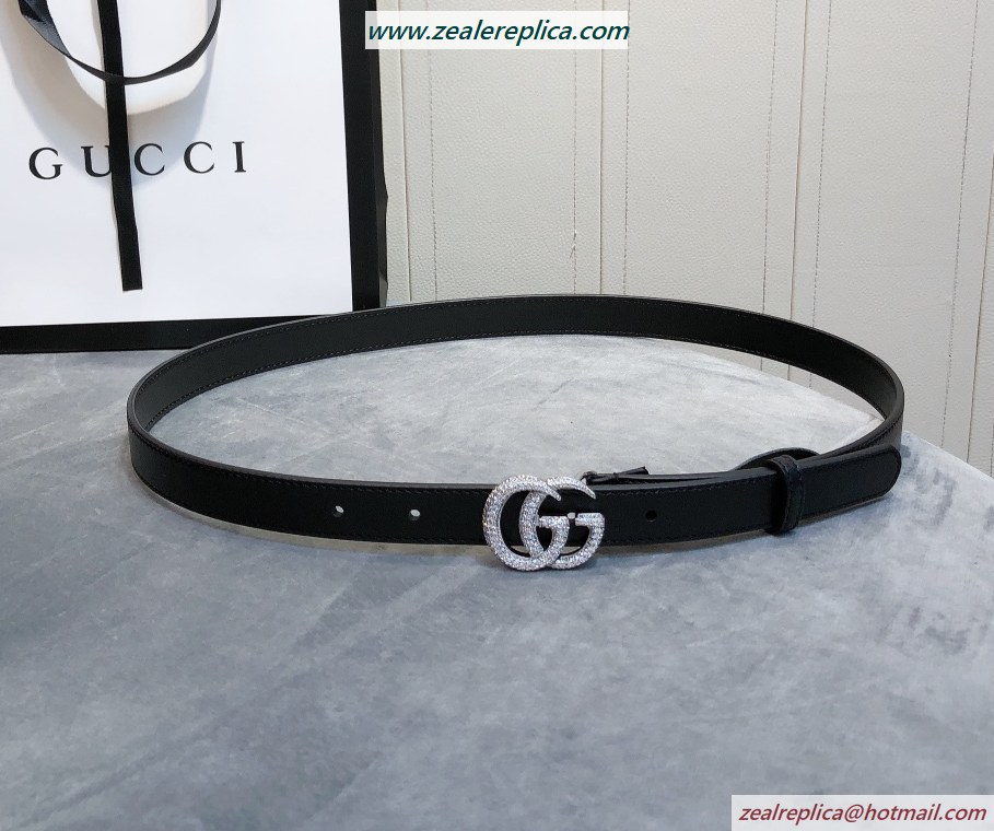 Gucci Thin Belt with Double G Buckle 409417-1