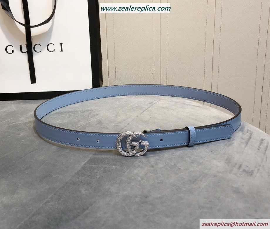 Gucci Thin Belt with Double G Buckle 409417-2