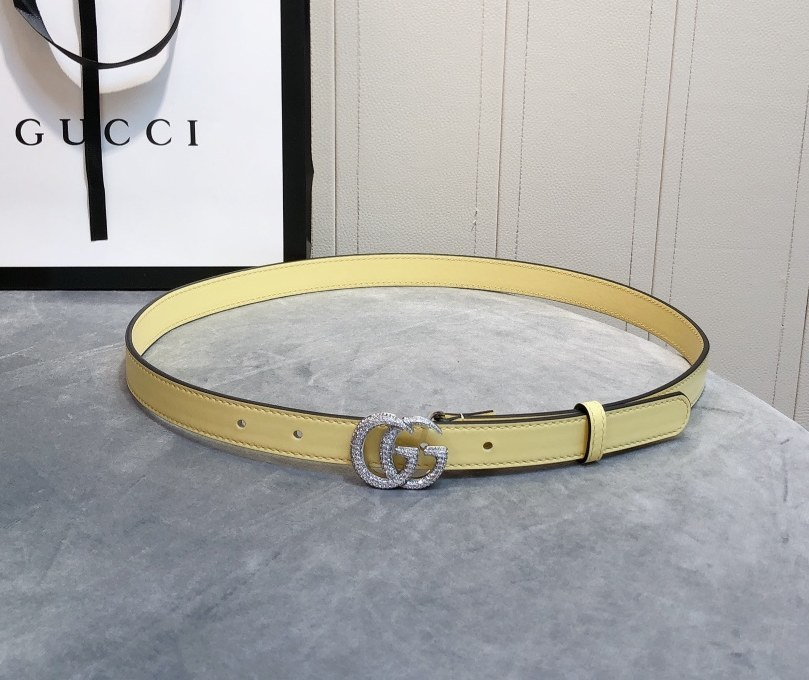 Gucci Thin Belt with Double G Buckle 409417-3