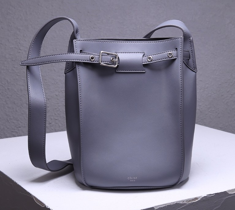 Celine Big Smooth Calfskin Bucket Bag 189343 Grey