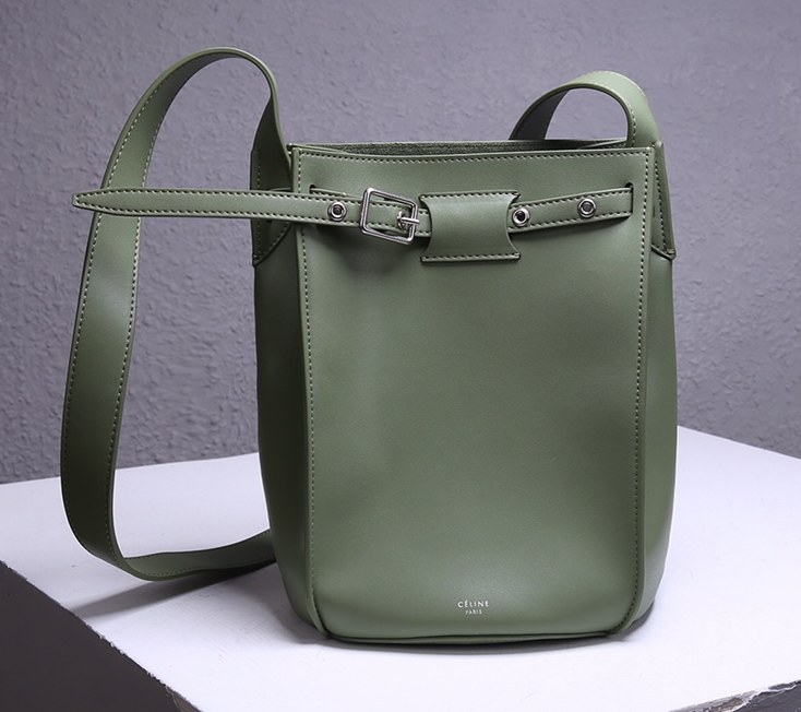Celine Big Smooth Calfskin Bucket Bag 189343 Green