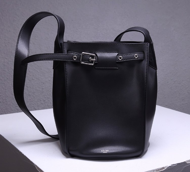 Celine Big Smooth Calfskin Bucket Bag 189343 Black