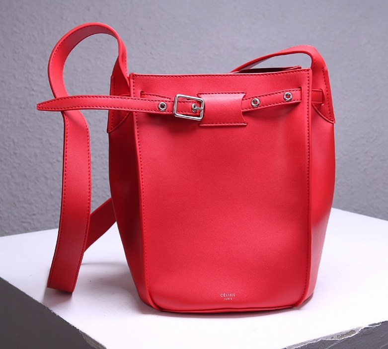 Celine Big Smooth Calfskin Bucket Bag 189343 Red