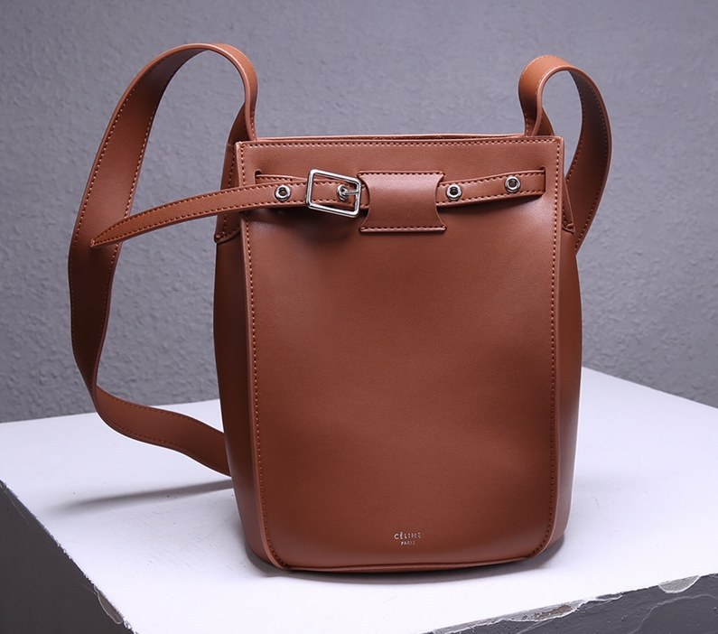 Celine Big Smooth Calfskin Bucket Bag 189343 Brown