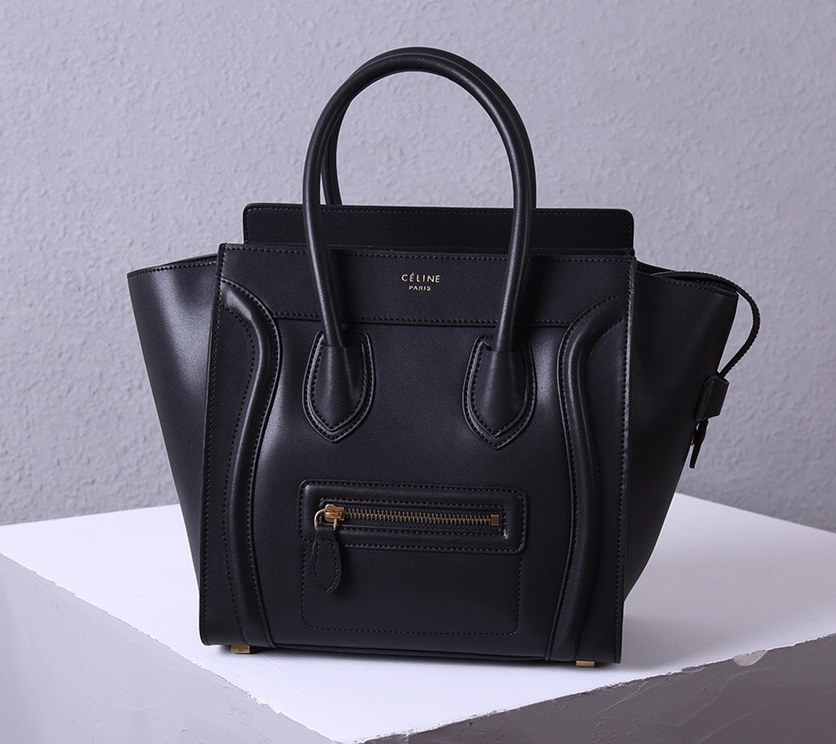 Celine Micro Luggage Smooth Calfskin Bag 3307 Black