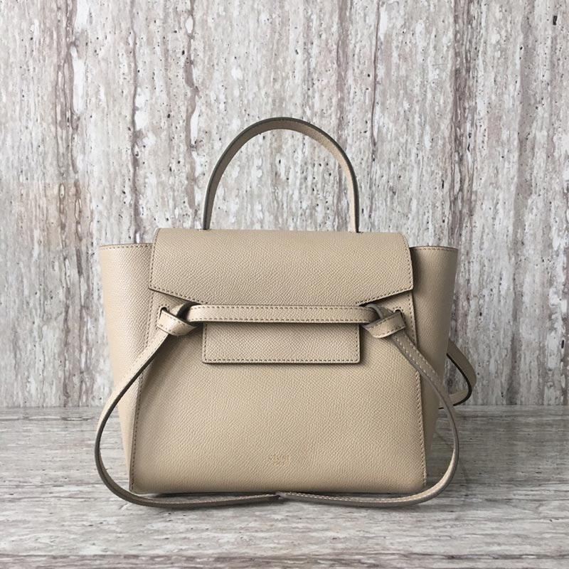 Celine Belt Nano Grained Calfskin Crossbody Bag 185003 Powder