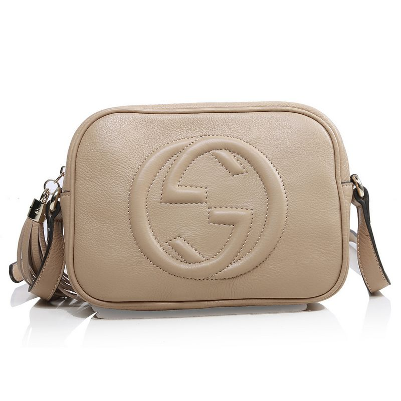 Gucci Soho Calf Leather Disco Bag 308364 Light Apricot