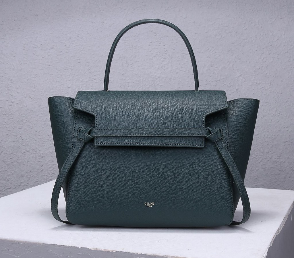 Celine Mini Belt Grained Calfskin Bag 189103 Amazone