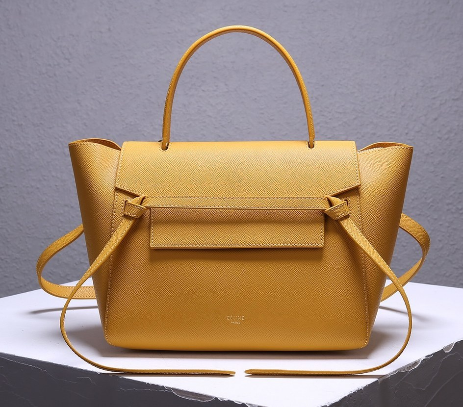 Celine Mini Belt Grained Calfskin Bag 189103 Ocre