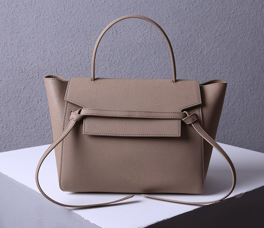 Celine Mini Belt Grained Calfskin Bag 189103 Apricot