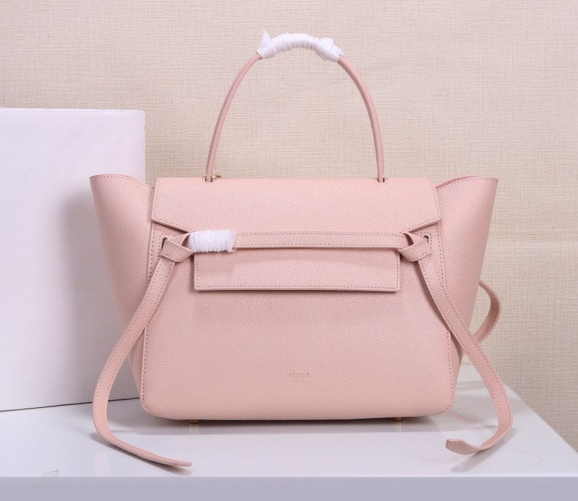 Celine Mini Belt Grained Calfskin Bag 189103 Pink