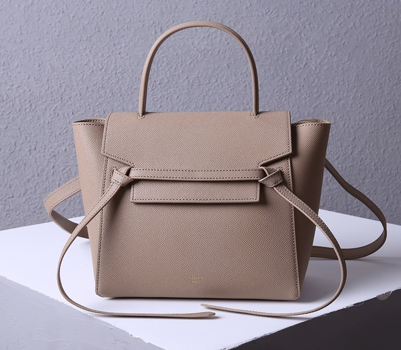 Celine Micro Belt Grained Calfskin Bag 189153 Apricot