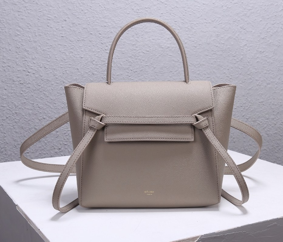 Celine Micro Belt Grained Calfskin Bag 189153 Light Taupe
