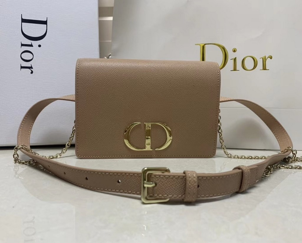 Dior 30 Montaigne Calfskin 2-In-1 Pouch S2086 Nude Pink