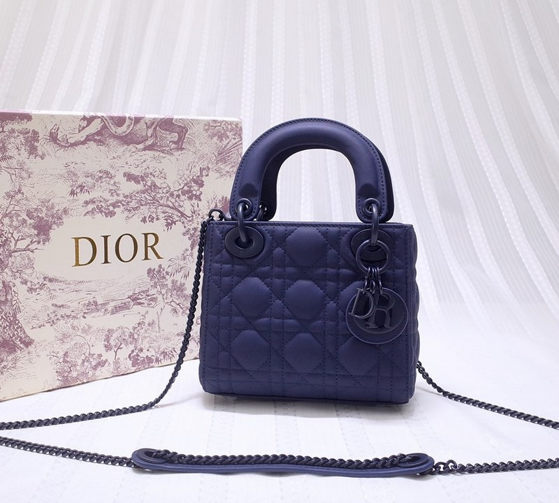 Dior Cannage Calfskin Mini Bag M0505SLOI Royal Blue