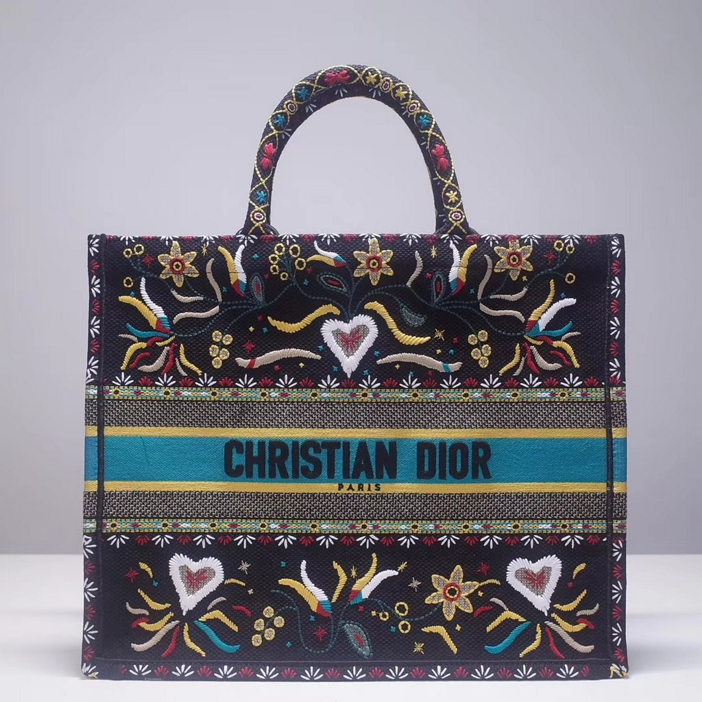 Dior Book Embroidered Canvas Tote Bag M1286ZRKQ-21