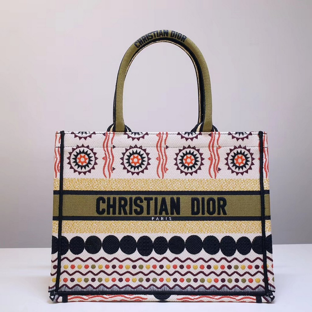 Dior Book Embroidered Canvas Small Tote Bag M1296ZRKQ-10