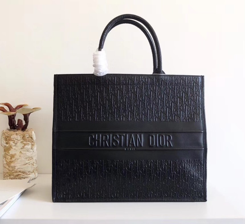 Dior Book Smooth Calfskin Tote Bag M1286ZWSO Black
