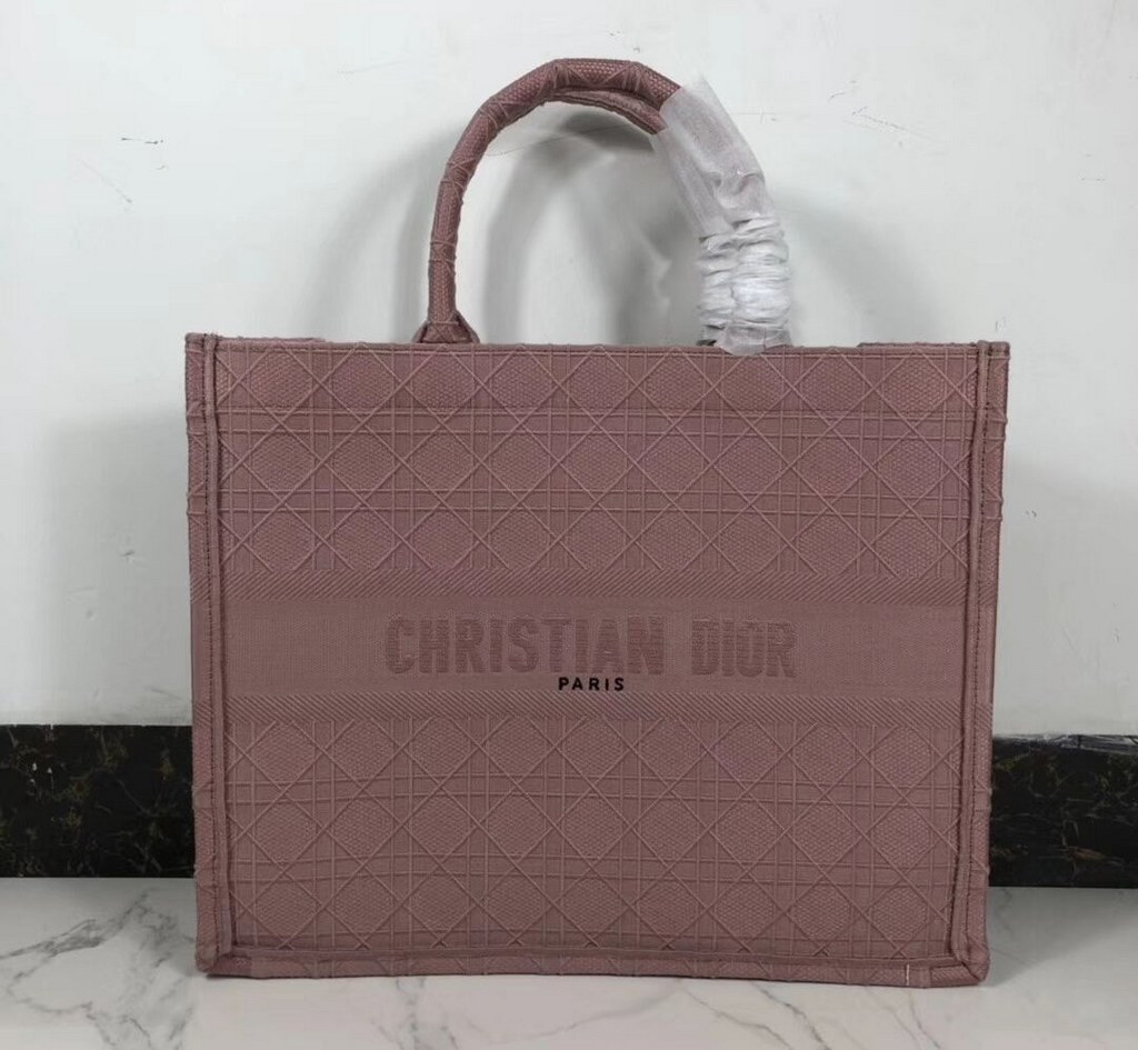 Dior Book Oblique-embroidered Canvas Tote Bag M1286ZW Pink