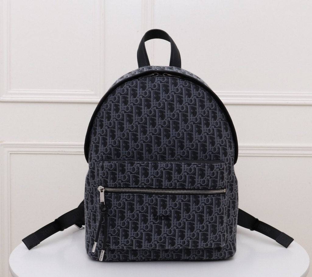 Dior Oblique Jacquard Rider Backpack 1VOBA088 Blue