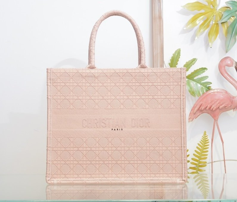 Dior Book Oblique-embroidered Canvas Tote Bag M1286ZW Light Pink