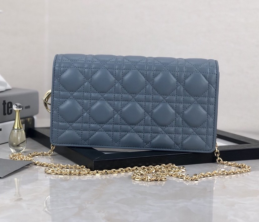 Dior Lady Lambskin Clutch S0204O Blue