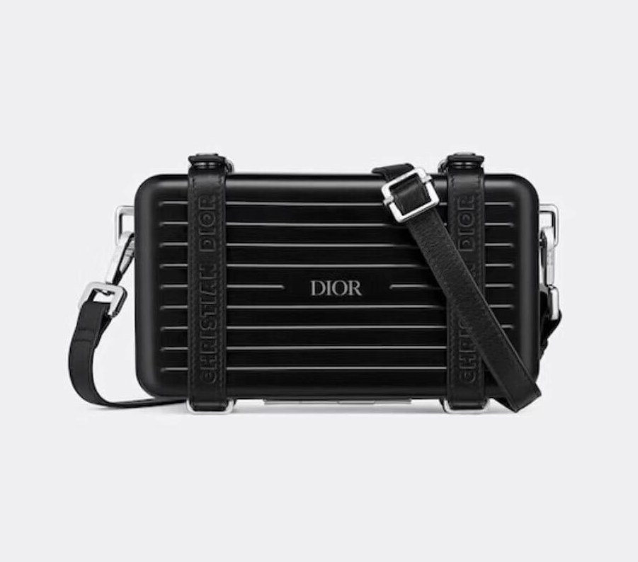 Dior and Rimowa Personal Clutch 2DRCA295 Black