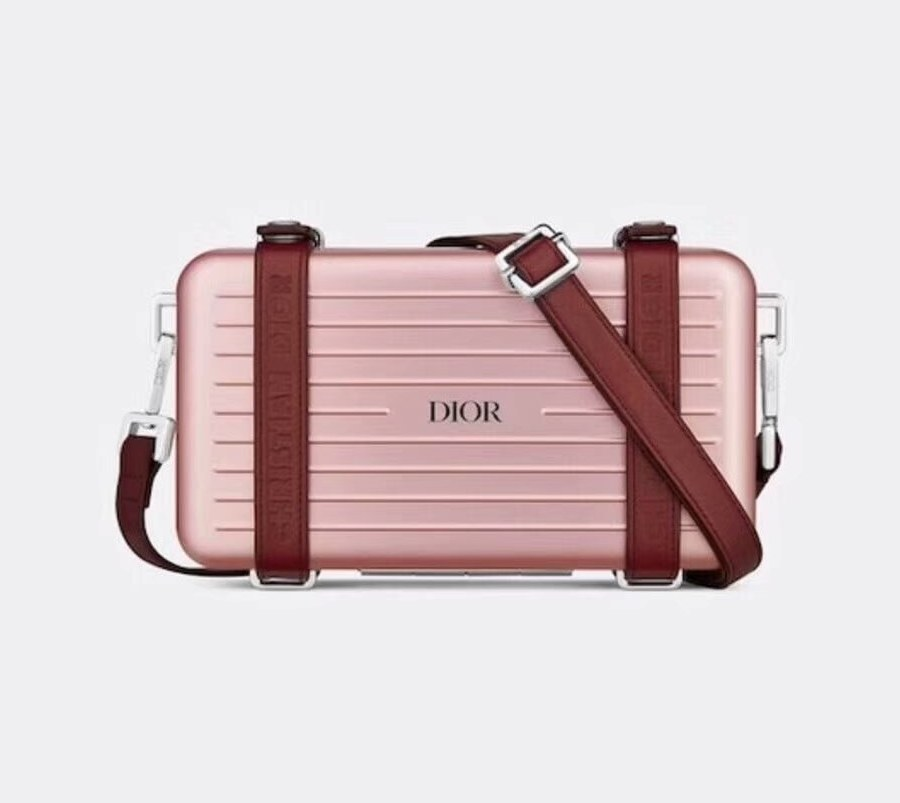Dior and Rimowa Personal Clutch 2DRCA295 Pink