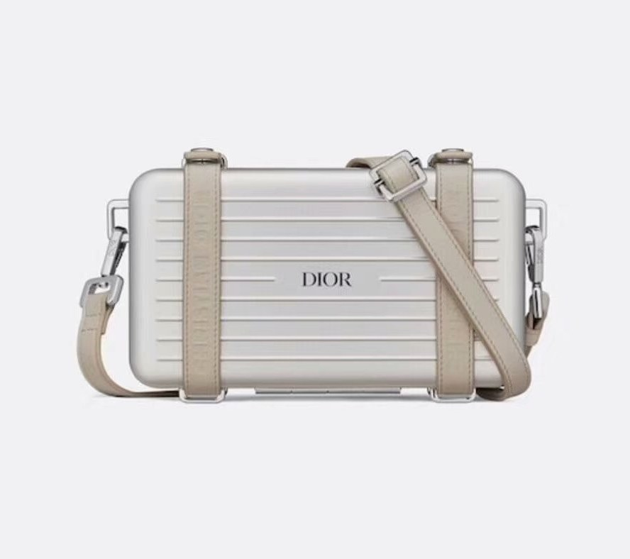 Dior and Rimowa Personal Clutch 2DRCA295 Gray