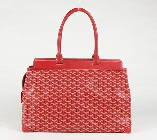 Goyard Zippered Tote Bag 8959 Red