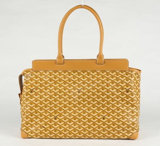 Goyard Zippered Tote Bag 8959 Yellow