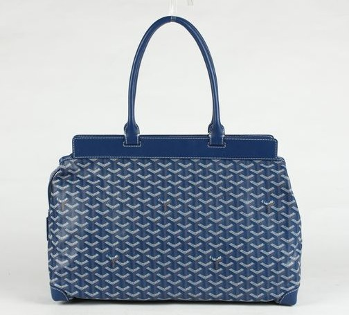 Goyard Zippered Tote Bag 8959 Blue