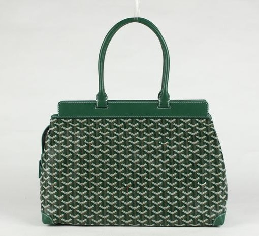 Goyard Zippered Tote Bag 8959 Green
