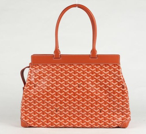 Goyard Zippered Tote Bag 8959 Orange
