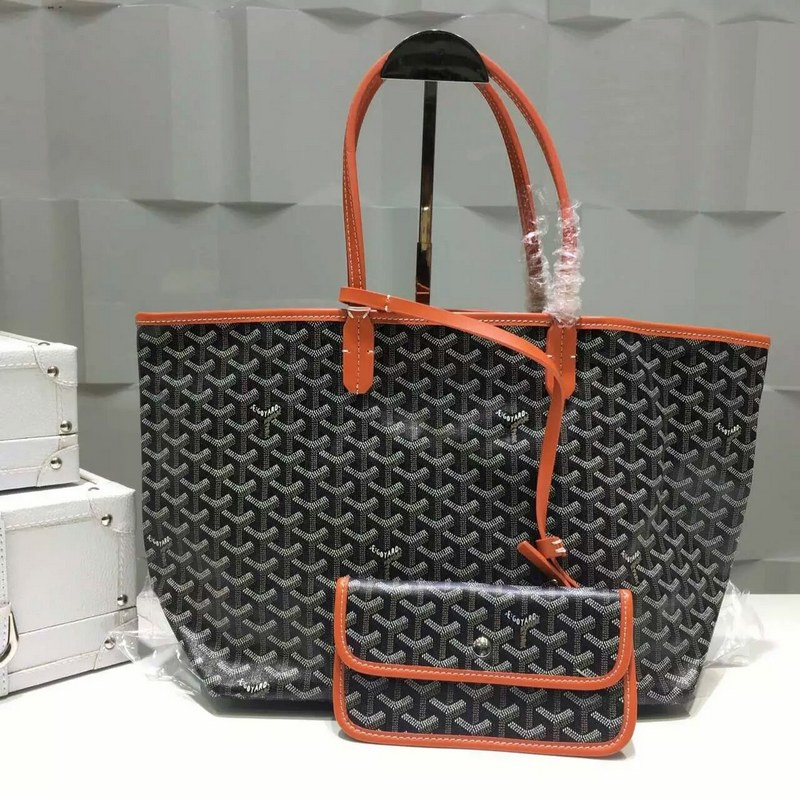 Goyard Saint Louis Tote Bag MM 2376-2 Black&Orange
