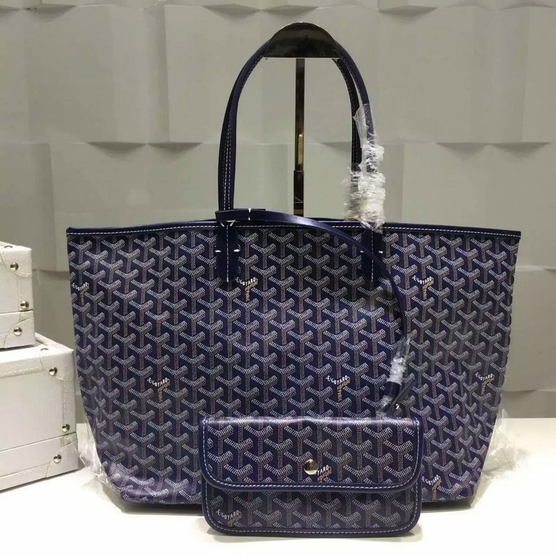 Goyard Saint Louis Tote Bag MM 2376-2 Dark Blue